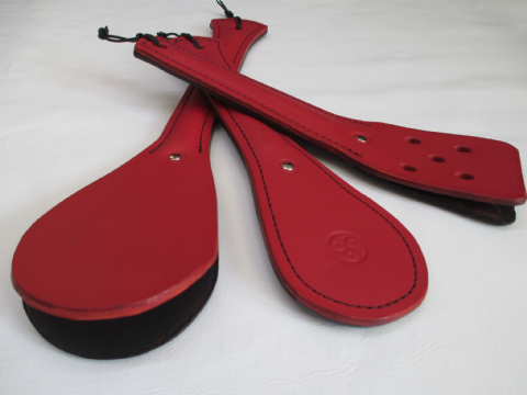 Leather  Trio Slapper/Paddle Impact Play Set